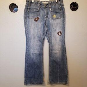 Tommy Hilfiger straight leg light dark wash jeans